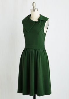 Trolley Tour Dress in Pine. With a dress as magical as this deep green A-line, youre compelled to arrange an adventure just for its debut! #green #modcloth