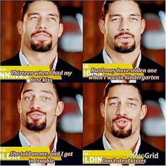 Roman Reigns on his first kiss