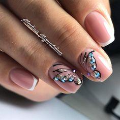 Trendy Nails Toe French Nailart Ideas in 2020 French Manicure Acrylic Nails, French Nails, Manicure And Pedicure, Animal Nail Designs, Nail Art Designs, Nails Design, Ten Nails, Nail Design Spring, Butterfly Nail Art