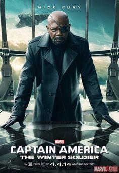 "Samuel L. Jackson stars as Nick Fury in Marvel's ""#CaptainAmerica: The Winter Soldier""!"