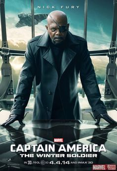 "Samuel L. Jackson stars as Nick Fury in Marvel's ""#CaptainAmerica: The Winter Soldier""!"