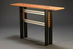 Ebony Squared by Carol Jackson: Wood Console Table available at www.artfulhome.com