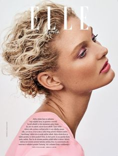 van der Vliet Looks Pretty in Pastels for ELLE Slovenia Patricia van der Vliet charms in pink on the February 2018 cover of ELLE Slovenia. Photographed by Caleb & Gladys, the blonde beauty wears a draped drePretty Pretty may refer to: Beauty Tips For Skin, Beauty Makeup Tips, Beauty Hacks, Beauty Products, Editorial Hair, Beauty Editorial, Pastel Makeup, Alternative Hair, Beauty Shoot