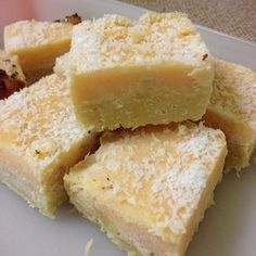 Oh YUM! Paleo Lemon Slice - paleo lemon coconut honey almond meal arrowroot GOODNESS!
