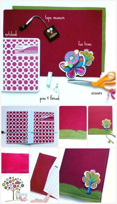 Easy Book Cover tutorial by The Sewing Loft
