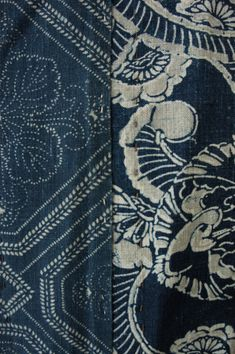 Vintage African and Japanese Indigo Textiles