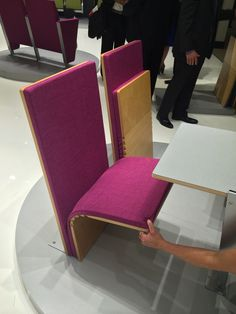 Sedia jump seat for auditorium NeoCon 2014 showroom Cinema Chairs, Project Ideas, Projects, Furniture Assembly, Space Saving Furniture, Auditorium, Floor Chair, Showroom, Spaces
