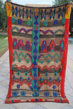 Vintage Moroccan Zanafi Carpet or blanket