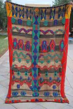 Vintage Moroccan Zanafi Carpet or blanket