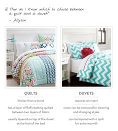 Decor 101 The Difference Between Duvets And Quilts