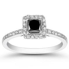 <li>Black and white diamond ring</li><li>10-karat white gold jewelry</li><li> <a href='http://www.overstock.com/downloads/pdf/2010_RingSizing.pdf'><span class='links'>Click here for ring sizing guide</span></a></li>