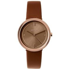 Women's Breda Agnes Leather Strap Watch, 34Mm (260 BRL) ❤ liked on Polyvore featuring jewelry, watches, abstract jewelry, anchor jewelry, leather band watches, anchor jewellery and breda watches