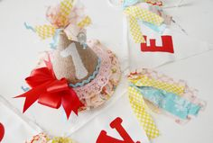 HAPPY 1st BIRTHDAY burlap party hat and by FarmhouseDebutantes, $42.50