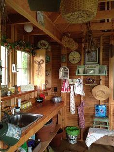 Garden house interior.
