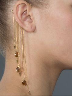 "Bianca Bertoni Brinco ""ear Cuff"" Dourado Com Pedras. - Bianca Bertoni Design - Farfetch.com.br"
