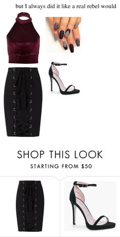 """""""untitled"""" by bambi2014 ❤ liked on Polyvore featuring River Island, Exclusive for Intermix and Boohoo"""
