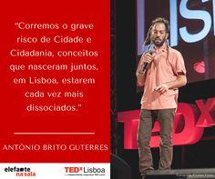 Importante darmos atenção a todos os cidadãos de Lisboa, incluindo os milhares de invisíveis. António Brito Guterres, speaker TEDxLisboa #TEDxLisboa #Elefantenasala