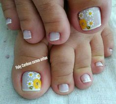60 Fotos de Unhas dos pés decoradas filha única Uñas Fashion, Manicure And Pedicure, Toe Nails, How To Do Nails, Pretty Nails, Nail Art Designs, Painting, Beauty, French Manicures