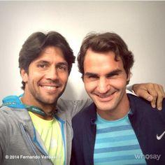 Roger Federer, Fernando Verdazco #tennis #RolandGarros #clay #tenis @JugamosTenis