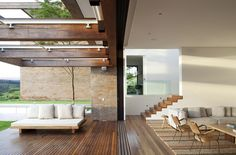 Stunning roof structure and wooden floor