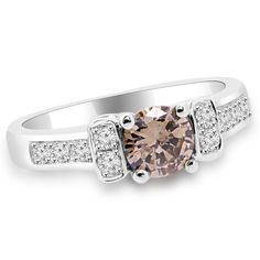 Jewelry Point - 0.69ct Champagne Brown Diamond Engagement Ring 18k White Gold, $1,190.00 (http://www.jewelrypoint.com/0-69ct-champagne-brown-diamond-engagement-ring-18k-white-gold/)
