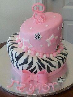 Taylor's Zebra Birthday cake