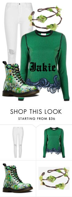 """""""Power Rangers: Jakie Holling"""" by steam-vinadetta ❤ liked on Polyvore featuring River Island, 3.1 Phillip Lim and Dr. Martens"""