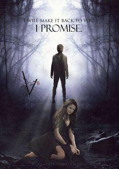 "#TVD The Vampire Diaries Damon(I think?) & Elena(I think?) ""I will make it back to you, I promise."""