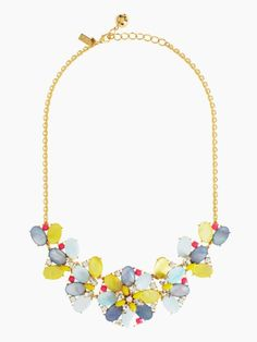 Bungalow Bouquet short statement necklace by kate spade new york