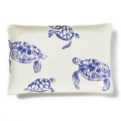 Costiera Blue Turtle Rectangular Platter