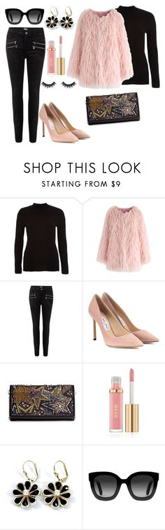 """""""Untitled #7"""" by vkjho ❤ liked on Polyvore featuring River Island, Chicwish, Paige Denim, Jimmy Choo, Christian Louboutin, Gucci and Morphe"""