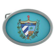 Cuban coat of arms Belt Buckle
