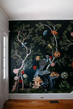 home — Thicket Design L Wallpaper, Hand Painted Walls, Mural Painting, Floral Wall, Wall Treatments, Decoration, Wall Murals, Interior And Exterior, Wall Decor