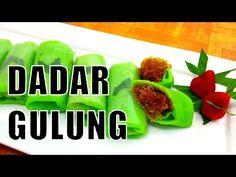 Indisch eten!: Dadar Goeloeng (dadar gulung): Indonesische groene pannenkoekjes met een vulling van kokos Indonesian Food, Tapas, Recipies, Food And Drink, Beef, Desserts, Youtube, Recipes, Indian Snacks