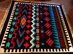 Made by Patrick in Yuma, Arizona. Quilted by amandasgramma  Navajo Sarape Quilt