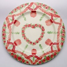 Ulrike Platzteller Plates, Tableware, Design, Red, Green, Dishes, Licence Plates, Dinnerware, Griddles