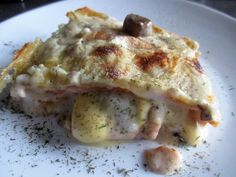 FORNELLI IN FIAMME: RED AND YELLOW LASAGNA WITH FONDUE, MUSHROOMS AND ...