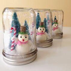 Retro Snowman Mason Jar Christmas Decoration by AJarMpls on Etsy, $20.00