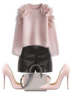 """""""333"""" by amota-2014 ❤ liked on Polyvore featuring Balenciaga, Chicwish and Christian Louboutin"""
