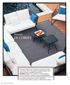 Un canapé de rêve pour l'extérieur : Hugo de Ruiter l'a dessiné pour OASIQ. Le voici dans la it list de Maison Française Magazine (été 2014) #presse #Oasiq #Yland