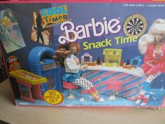 Barbie Snack Time Playset #7356 Vintage 1989 Arco Cool Times USED #Mattel