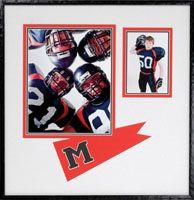 Custom framed football photos with unique matting.    #customframing #matting #football #thegreatframeup #unique