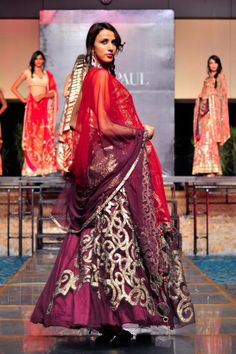 Indian Bridal Designer Satya Paul Store Opening - purple lehnga