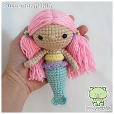 #sirenita #sirena #mermaid #sonajero #rattle #amigurumi #crochet #ganchillo #craft #yarn