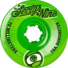 Sector 9 Top Shelf Nine Balls Skateboard Wheel, Green, Skateboard Gear, Skateboard Accessories, Skateboard Wheels, Skate Wheels, Original Longboard, Dc Skate Shoes, Snow Gear, New Product, Surfing