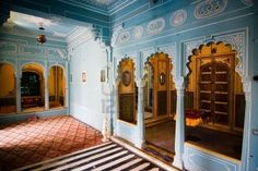 Interior view of the city palace - Udaipur, Rajasthan, India