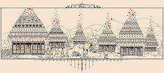 illustrations and public awareness campaign for Dragobete-Romanian National Lovers Day Foto Transfer, Lovers Day, Ukrainian Art, Awareness Campaign, Traditional House, Illustration Art, Art Illustrations, Folk Art, Taj Mahal