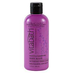 My absolute favorite fragrance I've tried so far..$9.99 Vitabath Orchid & Coconut Moisturizing Body Wash - Vitabath