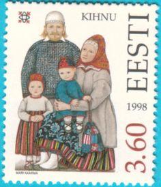 All* Estonian stamps: Kihnu folk costumes