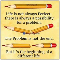 Life is not always Perfect. There is always a possibility 4 a problem. The problem is not the end. But it's the beginning of different life. Meaningful Pictures, Meaningful Quotes, Inspirational Quotes, Motivational Quotes, Positive Thoughts, Positive Quotes, Best Quotes, Life Quotes, Urdu Quotes